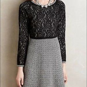 Anthropologie sparrow lace sweater dress m